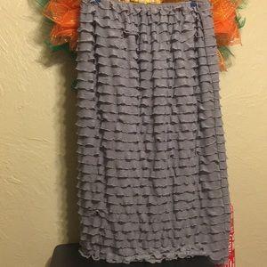Dresses & Skirts - Grey mini ruffle skirt